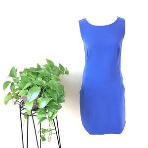 Loft Ann Taylor Shift Sleeveless Blue Dress Sz 10